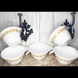 Set of 5 Vintage Corelle Hook Handle Coffee Cups